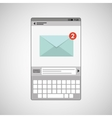 concept email social media icon vector image vector image