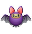 cute bat cartoon flying vector image