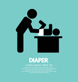 Diaper Changing Graphic Symbol vector image vector image