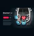 doctor car repair service vector image vector image