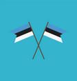 estonia flag icon in flat design vector image