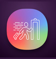 express entry app icon passenger passing x-ray vector image vector image