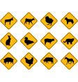 farm animals signs vector image vector image