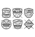 fishing sport icons fisher lures and tackles vector image vector image