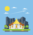 Flat design of Thai temple vector image