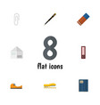 flat icon stationery set of duct nib pen letter vector image vector image