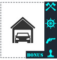 garage car icon flat vector image vector image