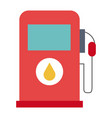 gas station pump icon vector image vector image