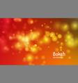 gold autumn color background blur bokeh light vector image vector image