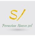 Golden Symbol of the Peruvian Nuevo sol vector image vector image