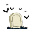 grave of dead with vampires flying vector image