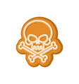 halloween cookie skull cookies for terrible vector image vector image