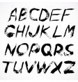 hand drawn grunge font vector image