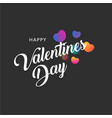 happy valentines day greting banner with colorful vector image vector image