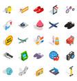 Internet marketing icons set isometric style