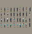 isometric big set of business men business women vector image