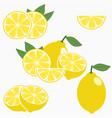 Lemon citrus fruit with leaf