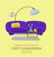 Living room cozy interior