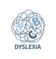 logo dyslexia vector image vector image