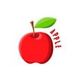 logo icon design apple farm vector image vector image