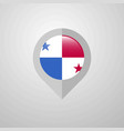 map navigation pointer with panama flag design vector image
