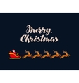 Merry Christmas greeting card Rides Santa Claus vector image vector image