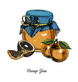 orange jamhand drawn ink colorful vector image vector image