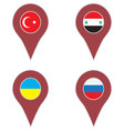Pin location country set vector image vector image
