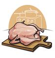 raw chicken vector image