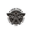 rough hand drawn shooting club logo hunter logo vector image