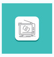 round button for tv ad advertising television set vector image