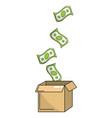 saving money box vector image vector image