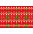 seamless horizontal pattern of christmas symbols vector image vector image