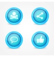 set glossy social icons vector image vector image