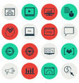 set of 16 marketing icons includes focus group vector image vector image