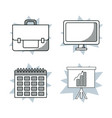 set of office and business elements vector image vector image