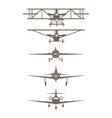 Set of plane icons vector image vector image