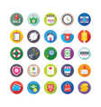 shopping and commerce icons 5 vector image vector image