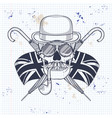 sketch british skull vector image