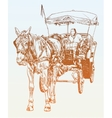 sketch drawing of horse driver vector image