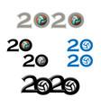 sport ball symbol new 2020 year vector image vector image