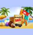 summer sale banner online shopping vector image vector image