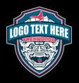 teakwondo monkey logo vector image vector image