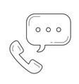 telephone receiver line icon vector image
