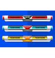 template scoreboard design vector image vector image