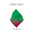 Triangle logo or icon of stone vector image vector image