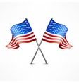 Two American flag vector image