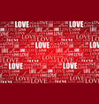 valentines day background with love inscription vector image vector image