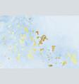 vintage blue gold foil texture background design vector image