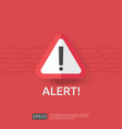 warning alert sign with exclamation mark symbol vector image
